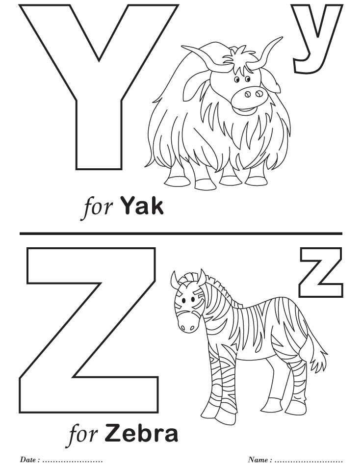 y coloring pages for preschoolers - photo #27