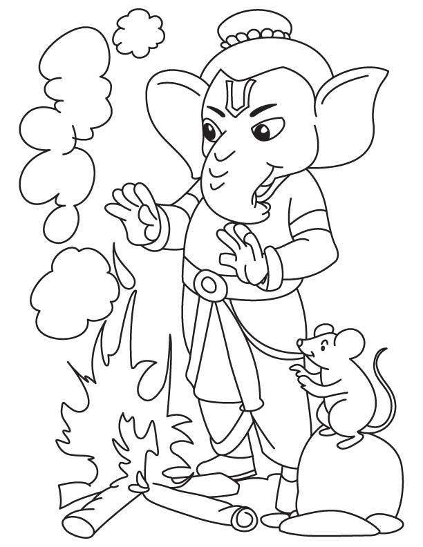 Lord Ganesha Free Coloring Pages Ganesha Coloring Pages