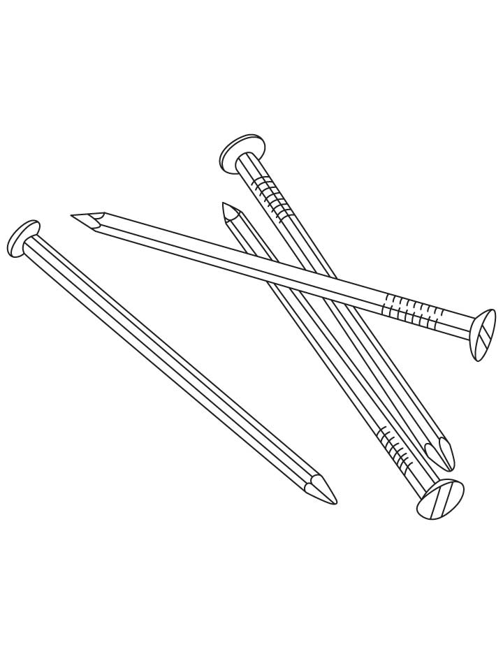 Metal Nails Coloring Pages Download Free Metal Nails