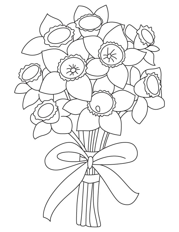 Flower Bulb Coloring Page Picture Of Daisy Flower Coloring Page