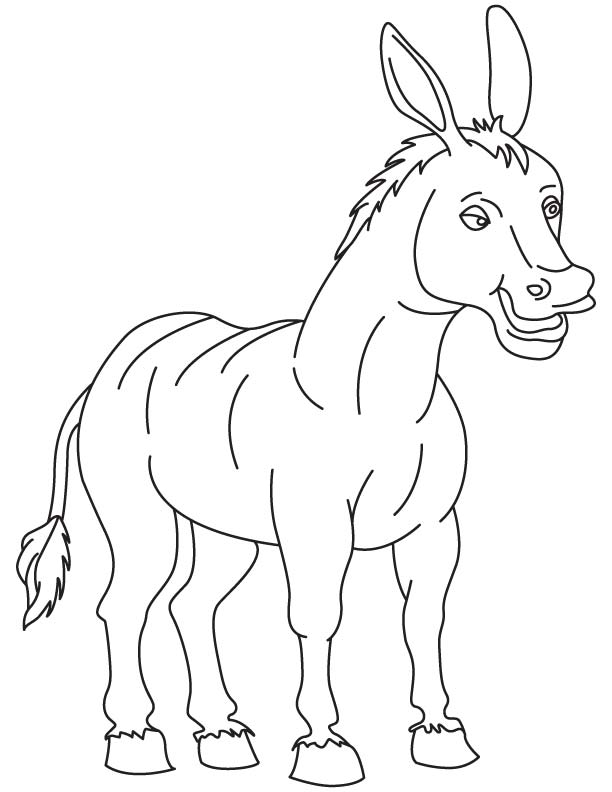 donkey coloring pages free - old donkey coloring page download free old donkey