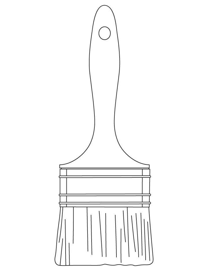 Paintbrush coloring pages   Download Free Paintbrush ...
