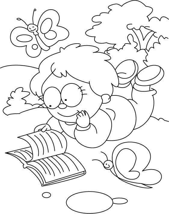 coloring pages about reading - free coloring pages of child reading