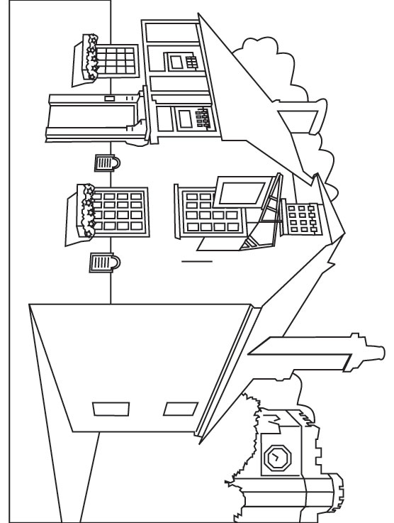 free restaurant coloring pages - photo#8