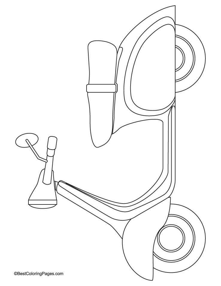 Old Scooter Coloring Page
