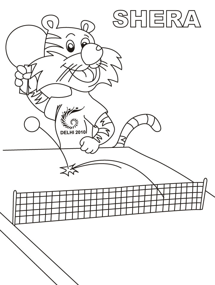 table tennis coloring pages