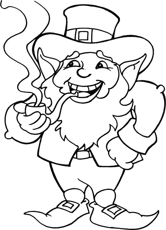 Good luck to all of you on St Patricks Day coloring page
