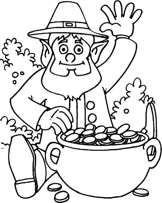 May the luck of Irish enfolds you coloring page