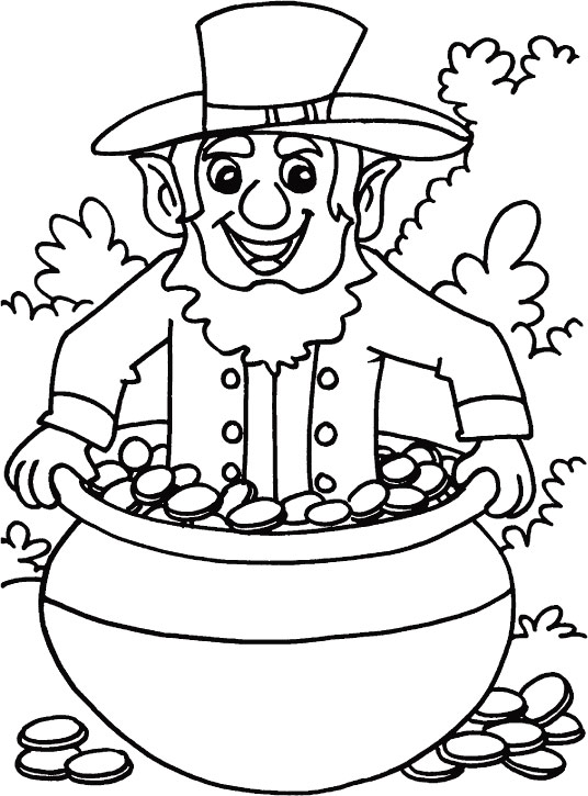 May your pocket be heavy & heart light coloring page