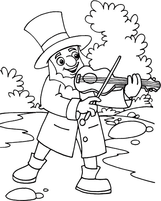 Musical celebration for St. Patricks Day coloring page