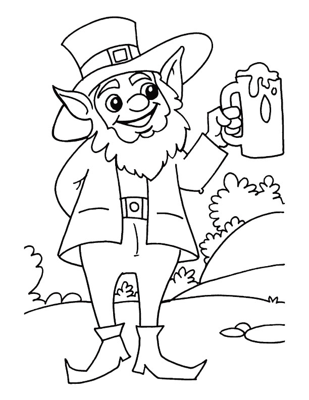 A mug full of beer is sufficient for me on the St Patricks Day coloring page