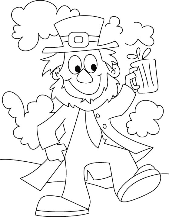 A thorough gentleman St. Patrick coloring page