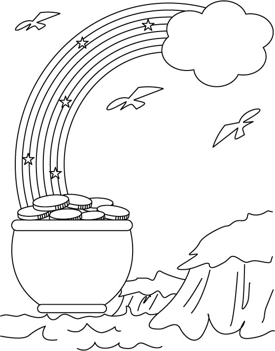Luck of The Irish to you coloring page
