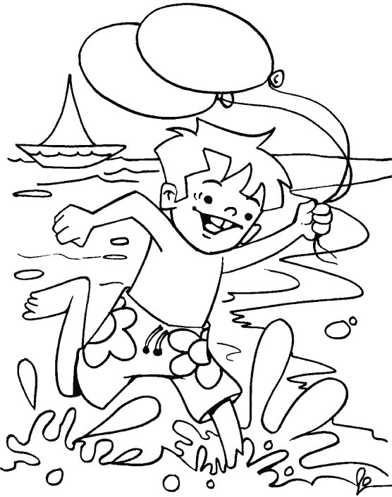boy summer coloring pages - photo#8