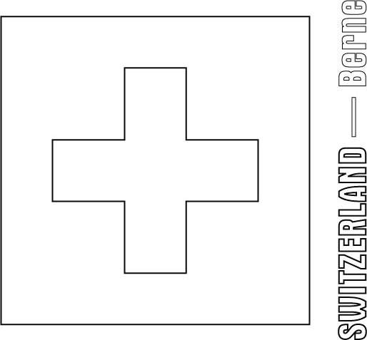 Bagnes Switzerland  city pictures gallery : Flag Coloring Page | Download Free Switzerland Flag Coloring Page ...