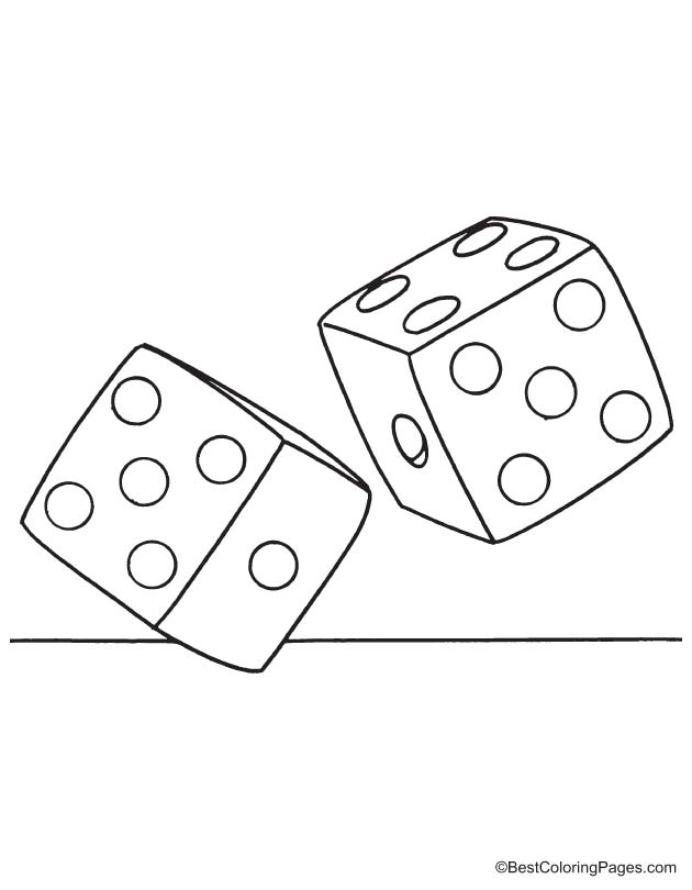 dice coloring pages - photo#10