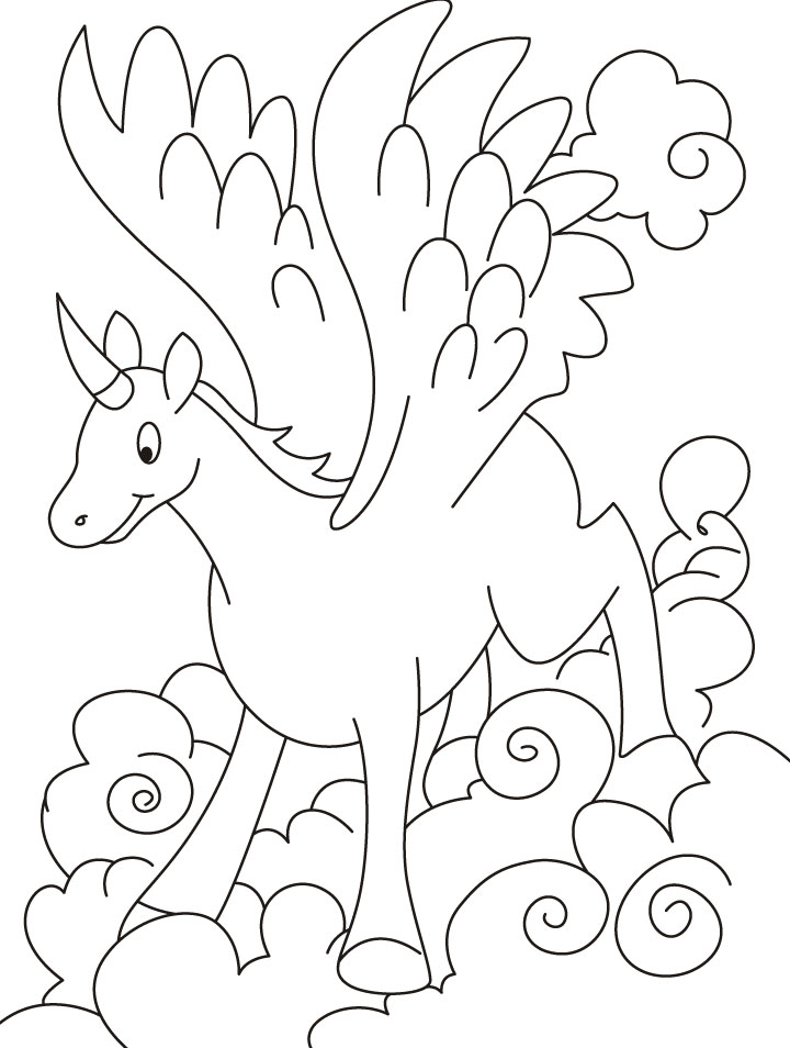 Flying unicorn coloring pages   Download Free Flying ...