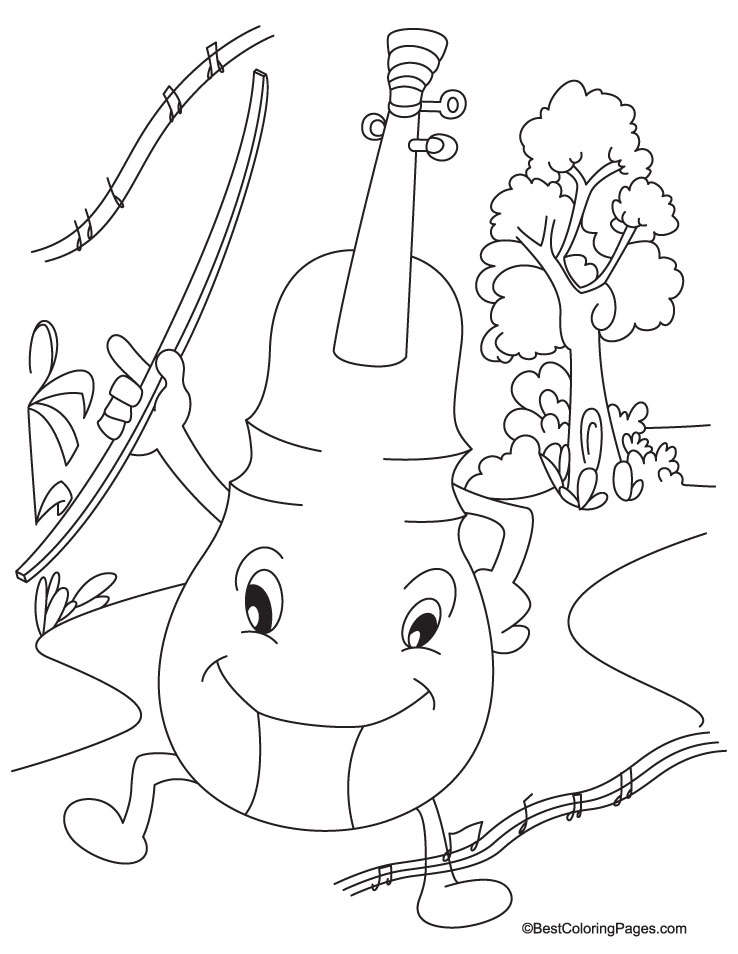cello printable coloring pages