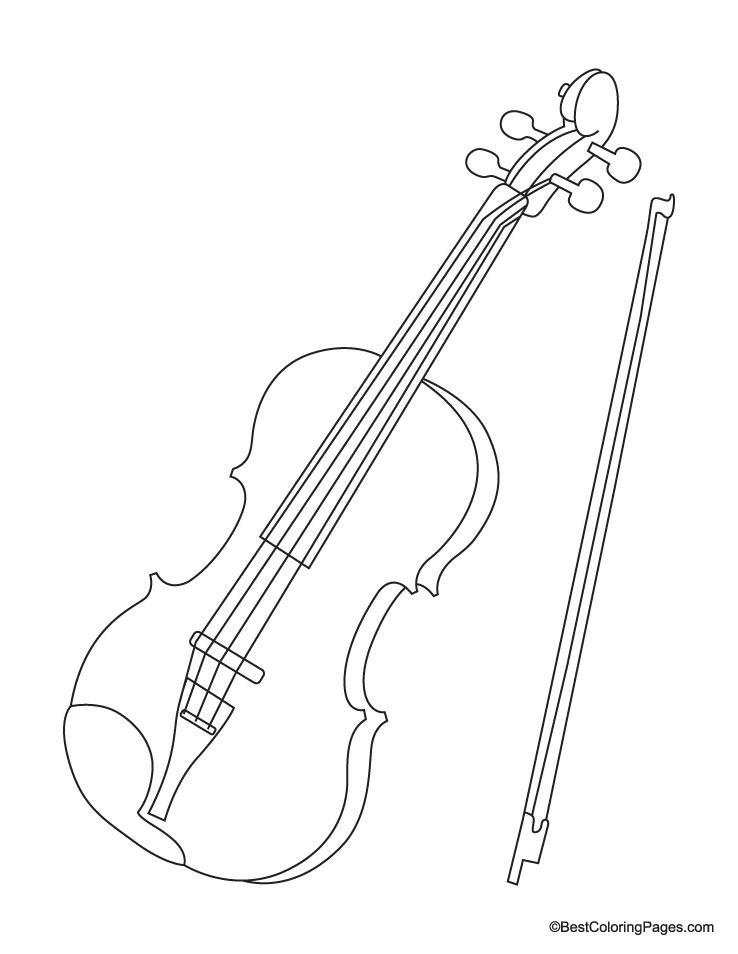 Violin coloring page Download
