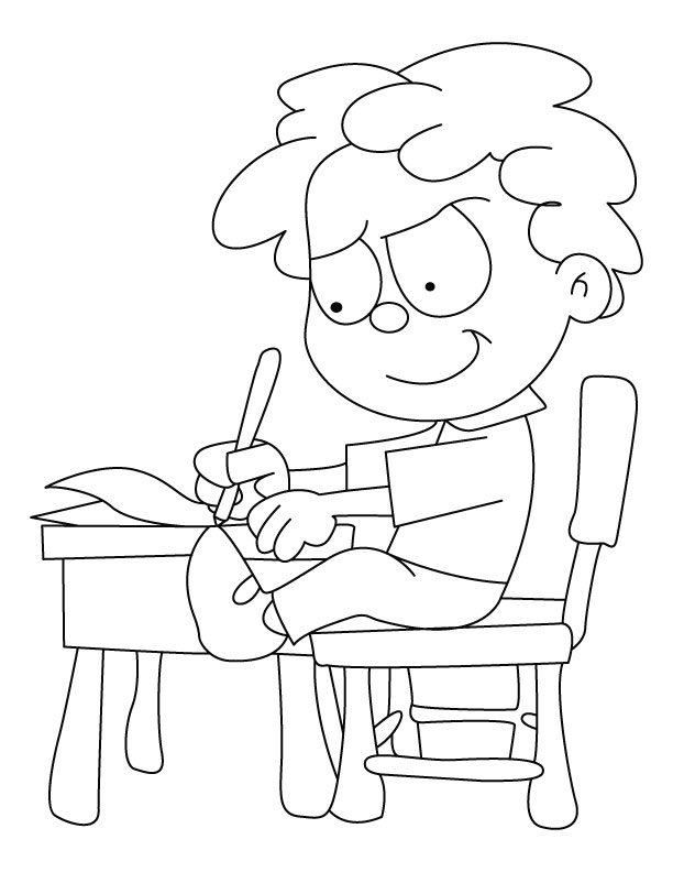 Coloring Pages For Writing : Free coloring pages
