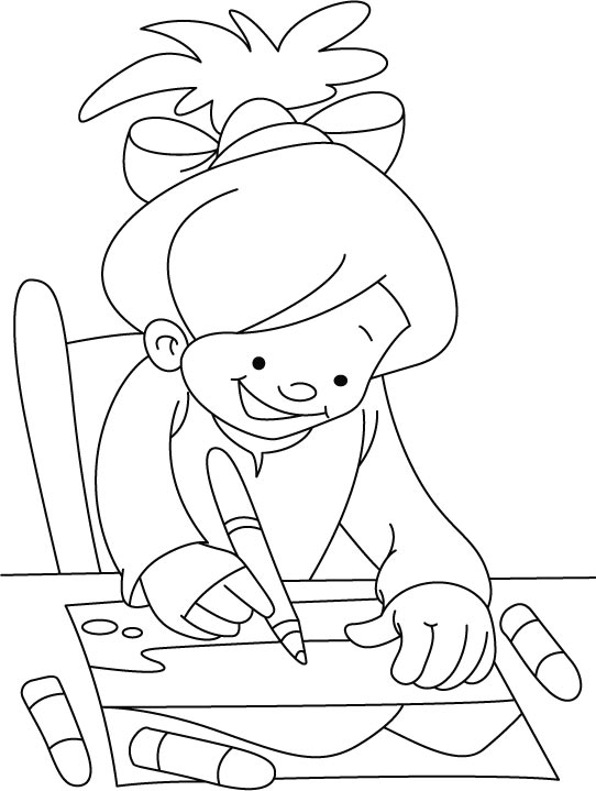 Free coloring pages of writing pen Calligraphy pages