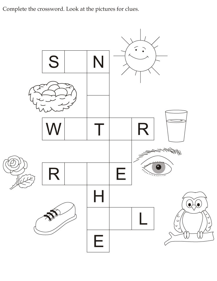Complete the crossword look at the pictures for clues download free