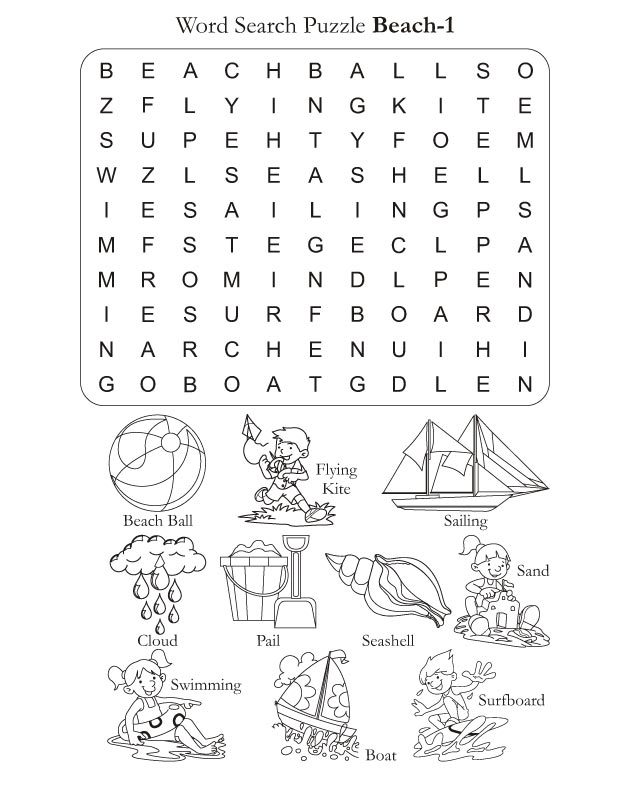 Words on the Beach - Word Games - Play Word Search ...