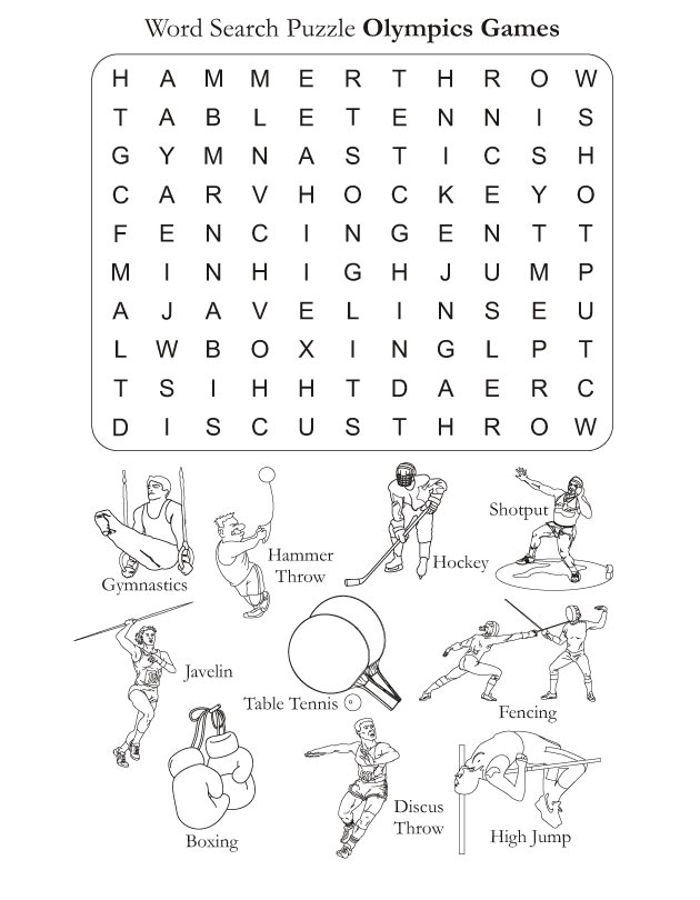 Word Search Puzzle Olympics Games Download Free Word Search Puzzle