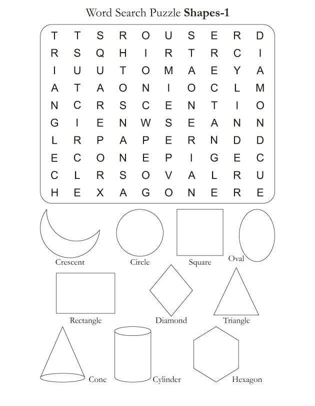 Word Se Puzzle Shapes 1 Download Free. Word Se Puzzle Shapes 1. Worksheet. Word Shape Worksheet At Clickcart.co