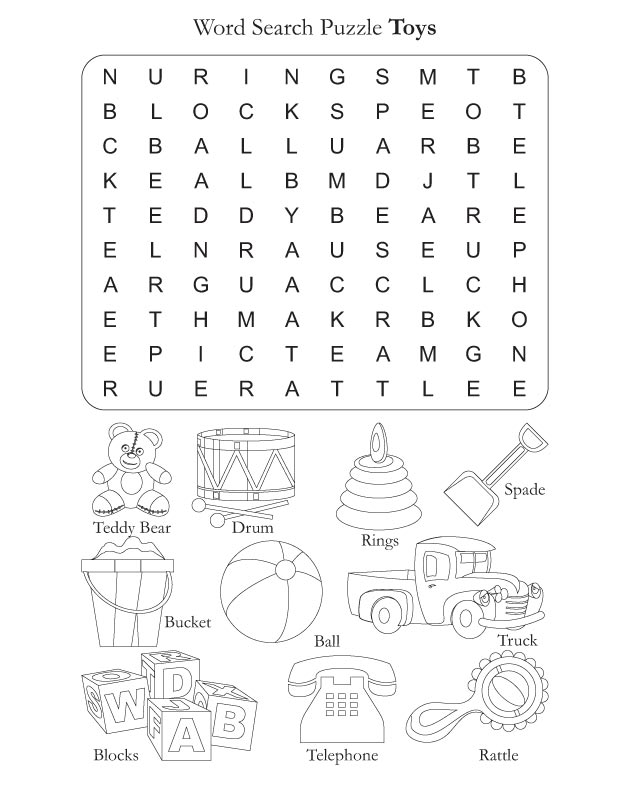 Word Search Puzzle Toys