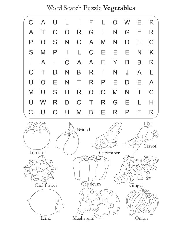 Vegetable Worksheets For Preschool Vegetable Worksheets For