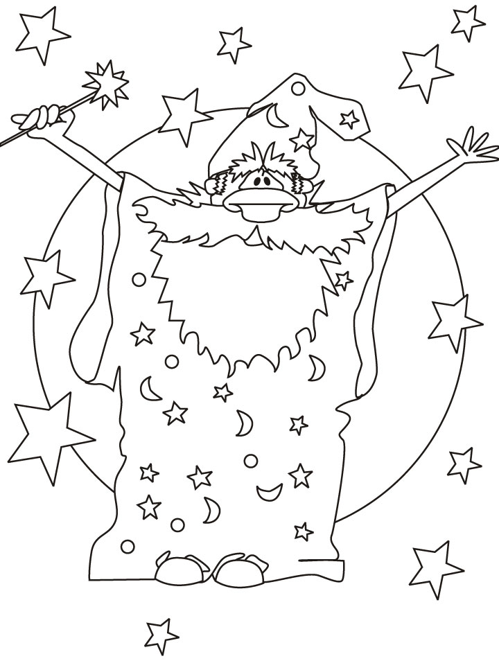 magician wizard coloring pages  download free magician